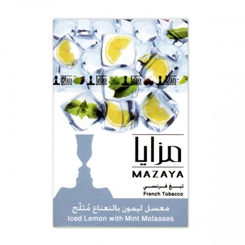 Табак Mazaya Iced Lemon Mint (Лед Лимон Мята) - 50 грамм