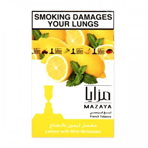Табак Mazaya Lemon with Mint (Лимон с Мятой) - 50 грамм