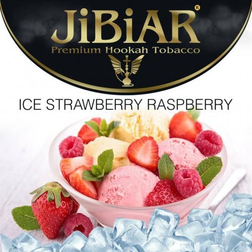 Табак Jibiar Ice Strawberry Raspberry (Лед Клубника Малина) - 100 грамм