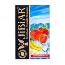 Табак Jibiar Ice Strawberry Banana (Лед Клубника Банан) - 50 грамм