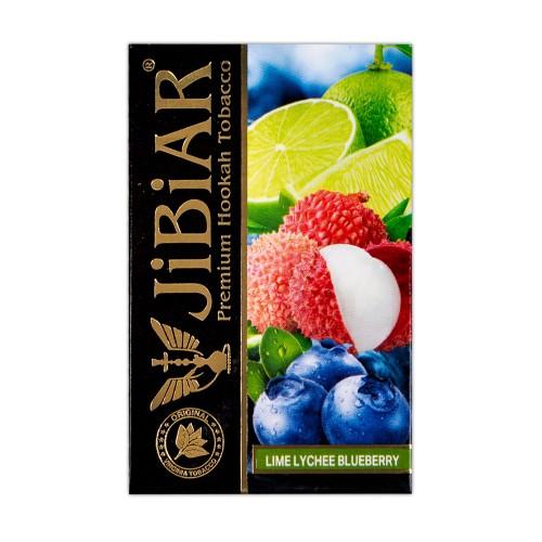 Табак Jibiar Lime Lychee Blueberry (Лайм Личи Черника) - 50 грамм